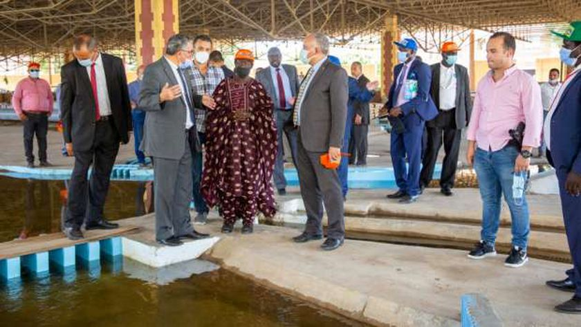 وزير الري ونائب رئيس جمهورية جنوب السودان خلال الجولة