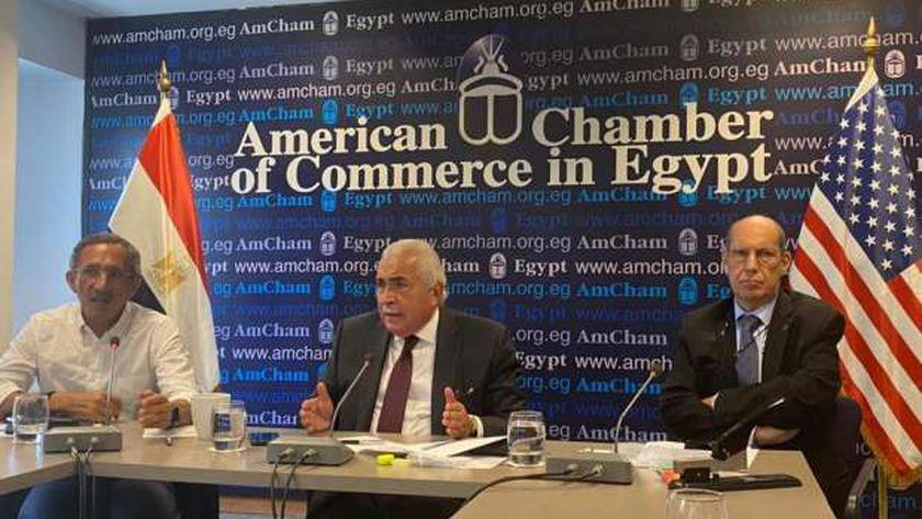 جانب من لقاء غرفة التجارة الأمريكية بالقاهرة