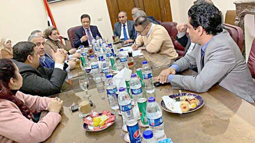 اجتماع سابق بالهيئة الوطنية للصحافة