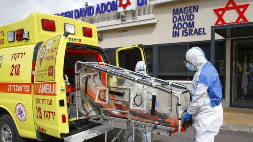 نقل مصابي كورونا في إسرائيل
