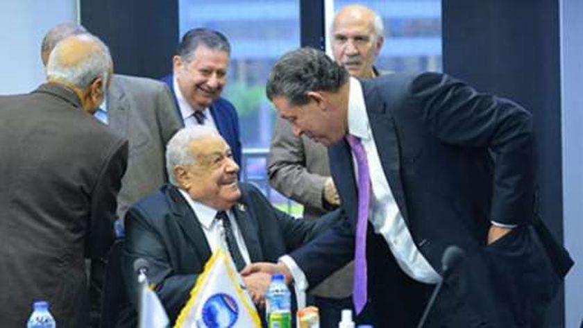 اجتماع التحالف الانتخابي أمس بمقر ائتلاف دعم مصر البرلماني