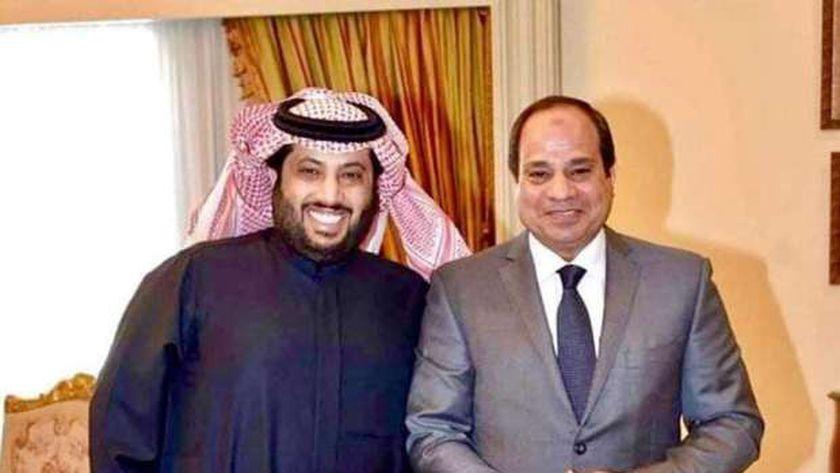 الرئيس السيسي وتركي آل الشيخ