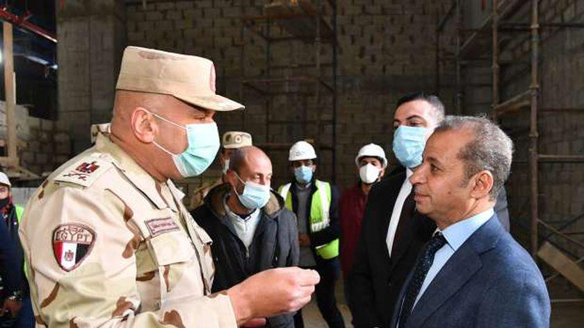 المستشار محمود إسماعيل خلال زيارته لمبنى مجلس الشيوخ بالعاصمة الإدارية