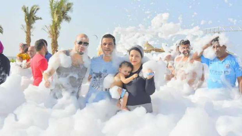 مهرجان الفوم على الشواطئ بالغردقة