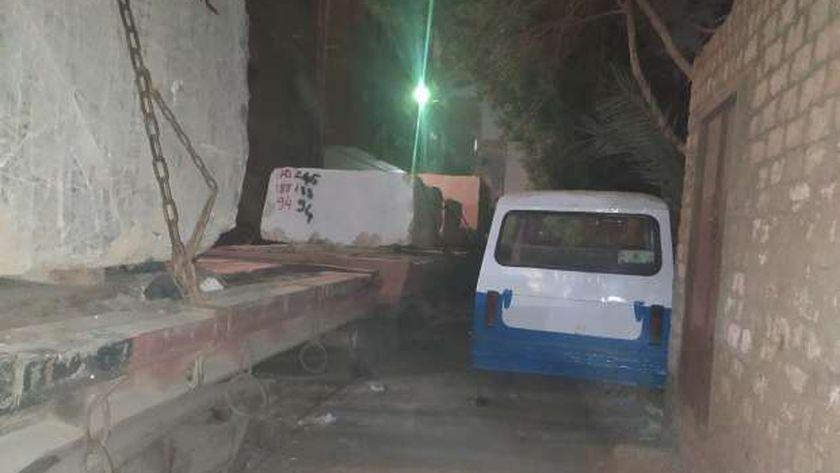 جانب من اثار حادث قطار حلوان