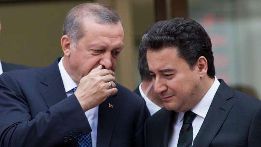علي باباجان مع الرئيس التركي رجب طيب أردوغان
