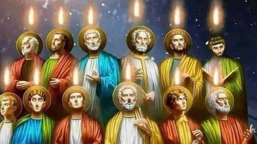 إيقونة قبطية لرسل المسيح