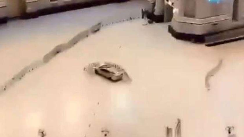 عاجل.. سيارة تقتحم ساحة الحرم المكي بسرعة جنونية (فيديو)
