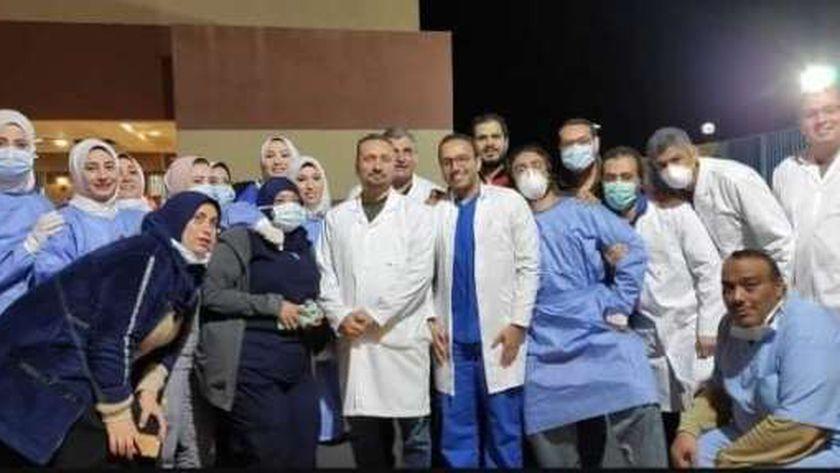 الجيش الأبيض بمستشفى النجيلة للعزل