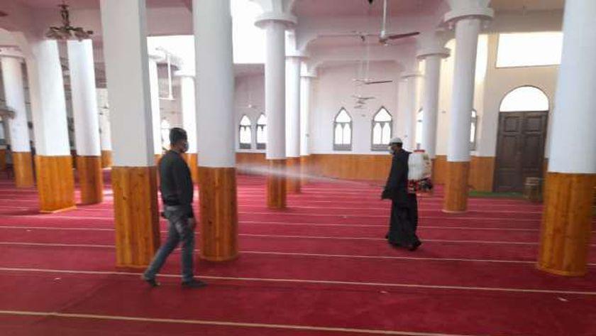 تطهير و تعقيم مساجد كفر الشيخ وافتتاح مسجد