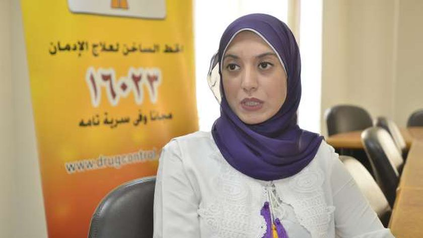 الدكتورة هوانم الفقي، استشاري علاج الإدمان بصندوق مكافحة وعلاج الإدمان