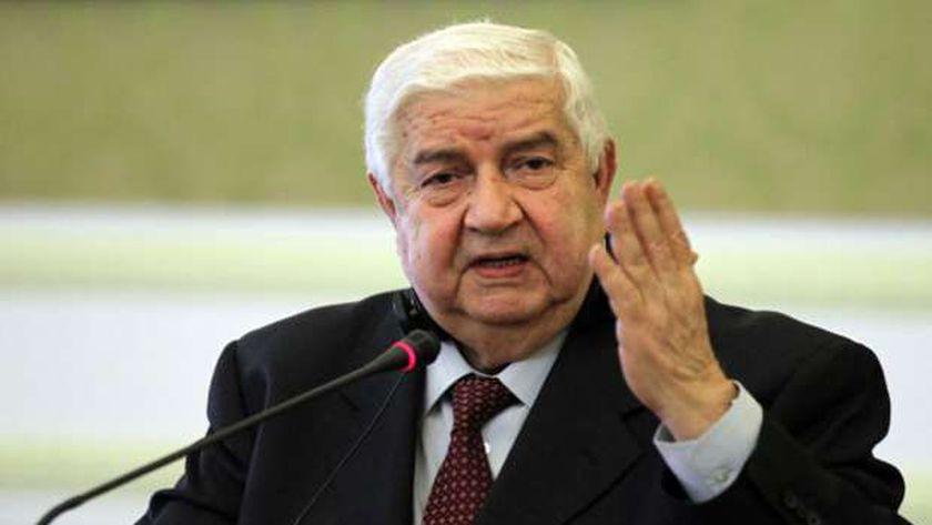 وزير الخارجية السوري-وليد المعلم-صورة أرشيفية