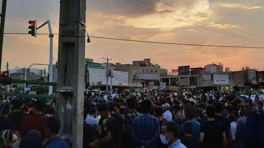 جانب من مظاهرات إيران
