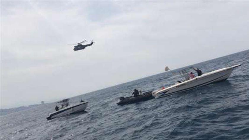 القوات الجوية والبحرية اللبنانية تبحث عن الطائرة الغارقة