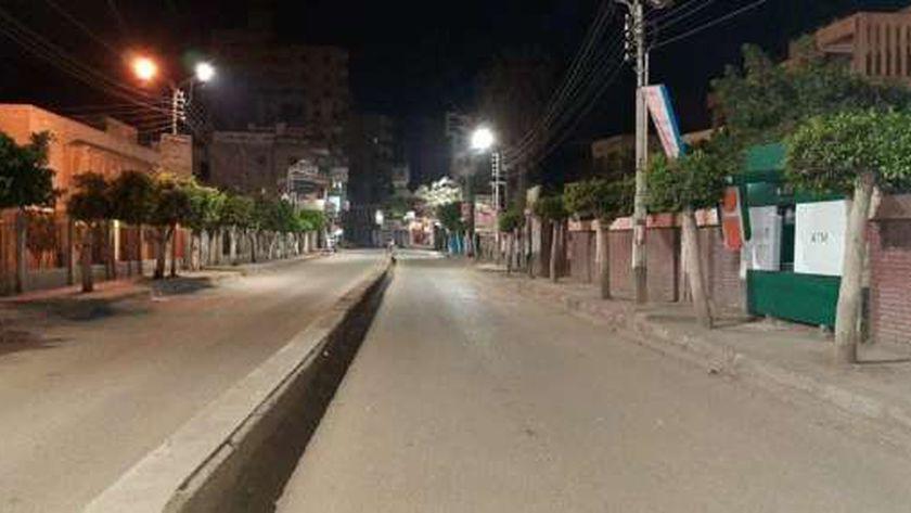 صورة لحظر التجوال بشوارع مصر أرشيفية
