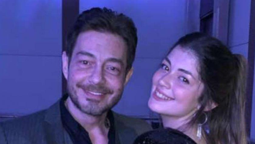 الفنان أحمد زاهر وابنته ليلى زاهر