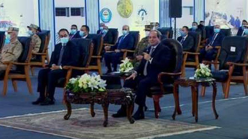 الرئيس السيسي في افتتاح مشروع الفيروز للاستزراع السمكي