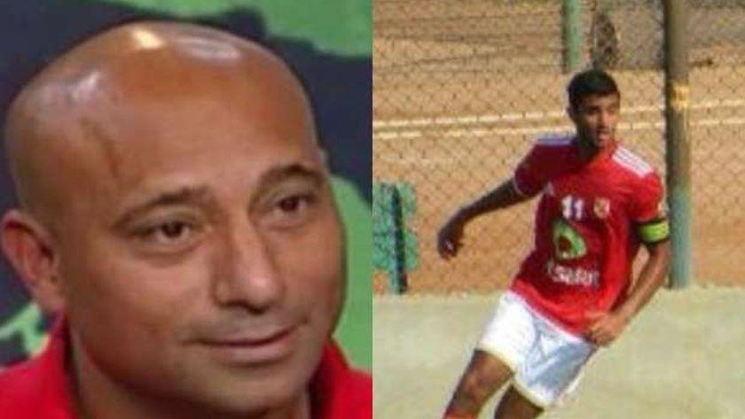 اللاعب ياسر ريان وابنه