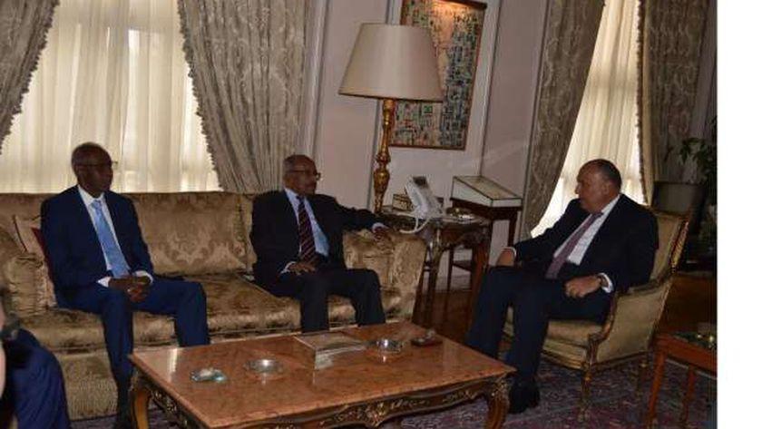 وزير الخارجية يبحث مشروعات التعاون المشترك والقضايا الإقليمية مع نظيره الإريتري والمستشار السياسي للرئيس أفورقي