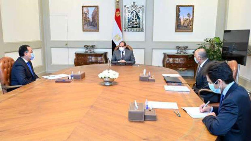 الرئيس عبدالفتاح السيسي خلال اللقاء