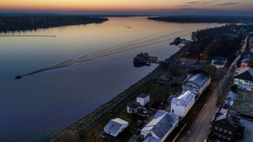 نهر الفولغا في روسيا