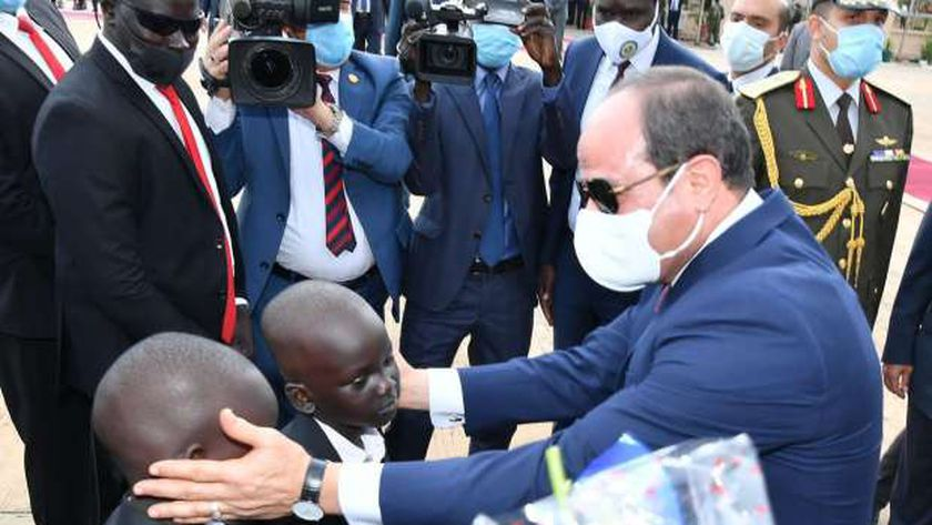 جانب من زيارة السيسى لجنوب السودان