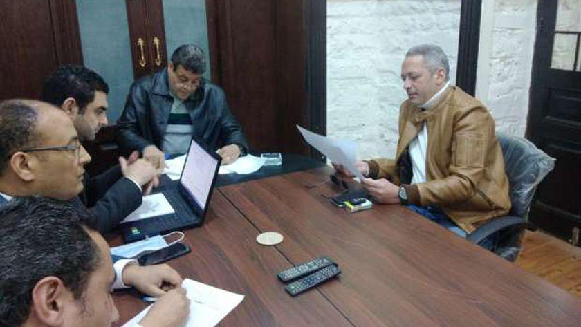جانب من التحقيق مع تامر أمين بنقابة الإعلاميين