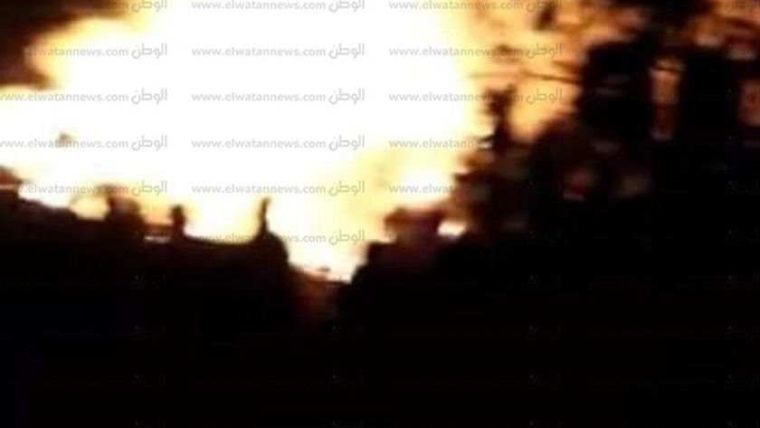 حريق بقرية الكفر الشرقى بالحامول
