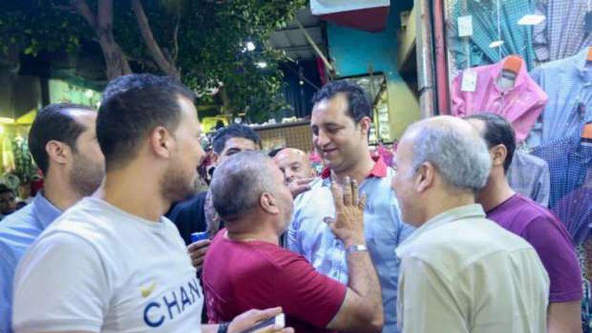 احمد مرتضي منصور خلال جولاته الانتخابية
