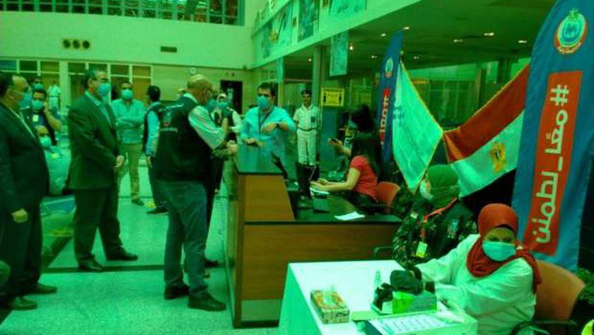 قافلة طبية لتطعيم العاملين بمطار أسيوط الدولي باللقاح المضاد لفيروس كورونا