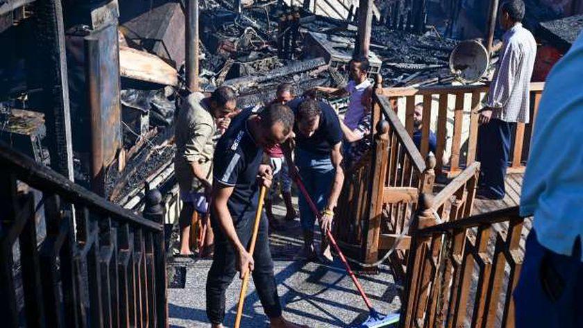 حريق مطعم جليم الإسكندرية