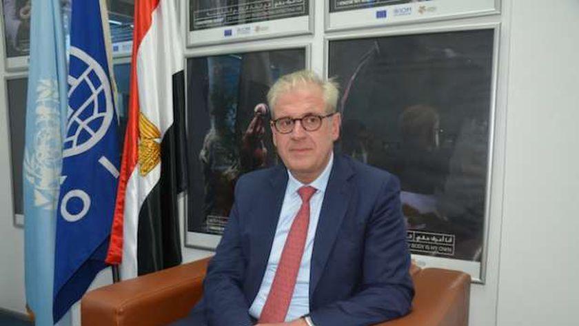 لوران دي بويك، رئيس بعثة منظمة الهجرة الدولية التابعة للأمم المتحدة.