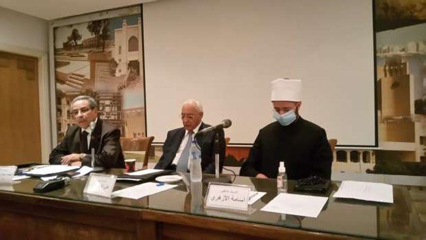 """أسامة الأزهري، مستشار رئيس الجمهورية خلال مشاركته بندوة """"الأعلى للثقافة"""""""