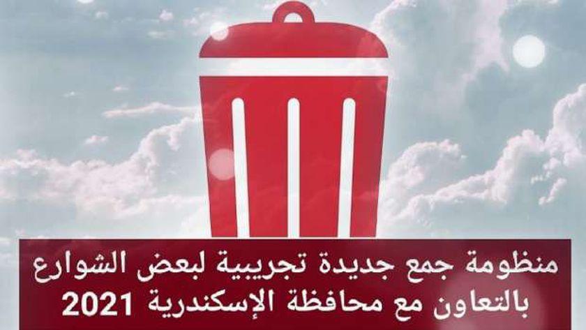 نظافه الإسكندرية تدشين تطبيق منظومة الجمع السكني بالصفارة