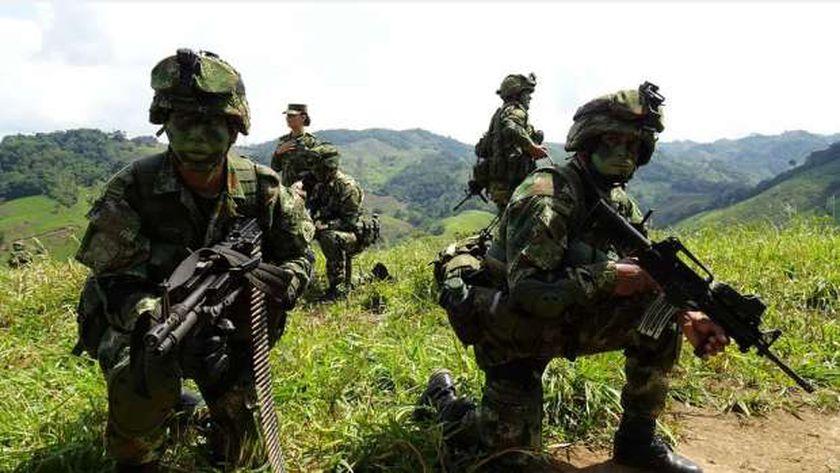 عناصر من الجيش الكولومبي