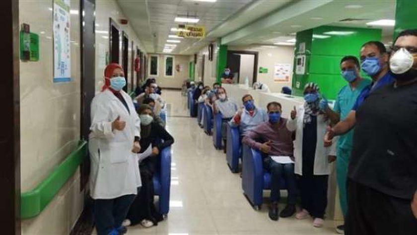 تعافي 16 من كورونا بمستشفى عزل إسنا بالأقصر