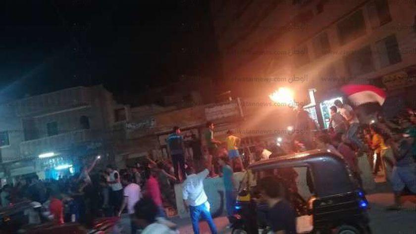 شوارع البحيرة تتحول لمظاهرات فرح احتفالا بالصعود لكأس العالم