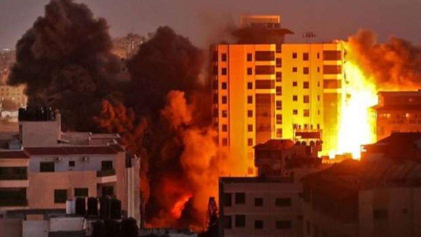 قصف إسرائيلى على غزة
