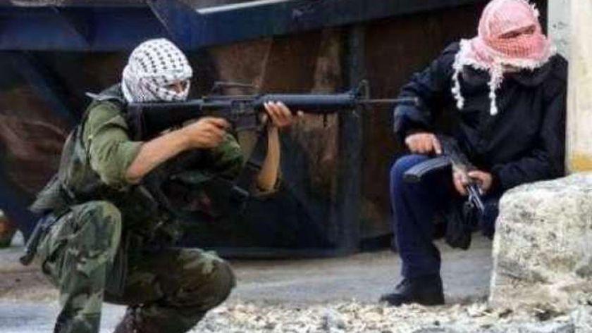 عناصر المقاومة الفلسطينية خلال معركة جنين