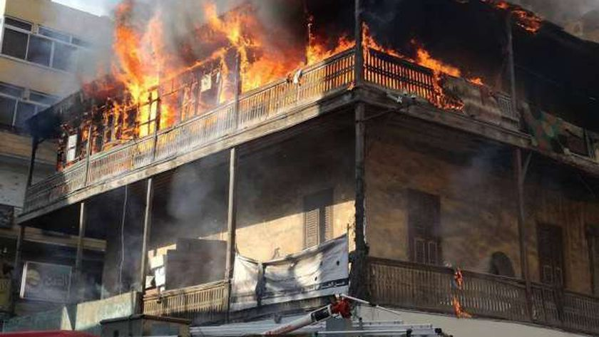 """إصابة 3 أشخاص في حريق منزل """" صورة أرشيفية"""""""