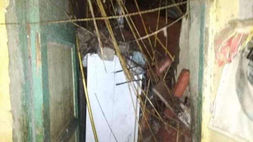 انهيار منزلين دون اصابات في سوهاج