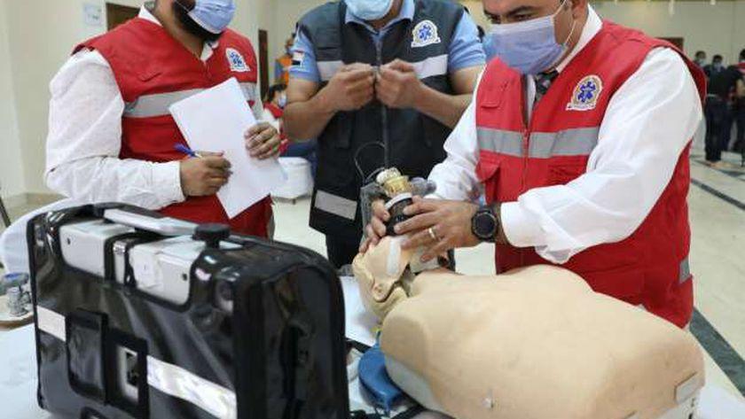 وزيرة الصحة: دورات تدريبية للمسعفين للتعامل مع الحوادث الكبرى والطارئة