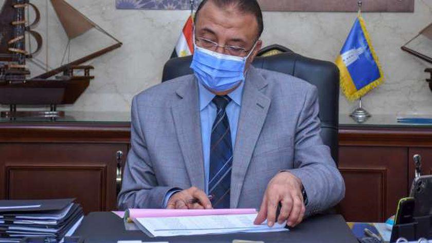 محافظ الإسكندرية أثناء اعتماد نتيجة الشهادة الإعدادية