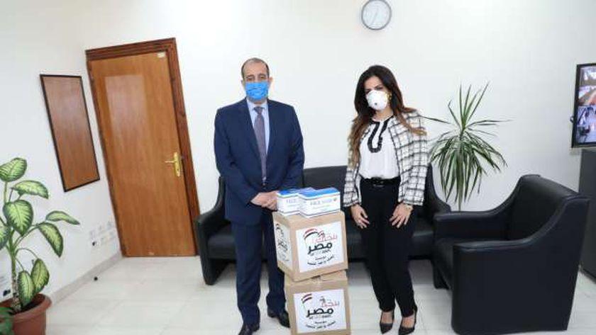 التنمية المحلية تتسلم الكمامات من بنحبك يامصر