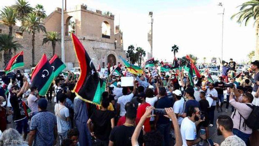 """أحد مشاهد الاحتجاجات في العاصمة الليبية """"طرابلس"""""""
