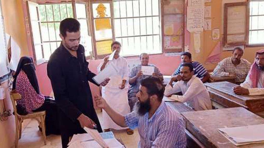 صورة أرشيفية لإحدى لجان امتحانات محو الأمية
