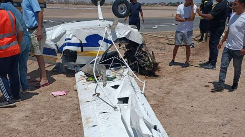 سقوط طائرة خاصةً بالجونة