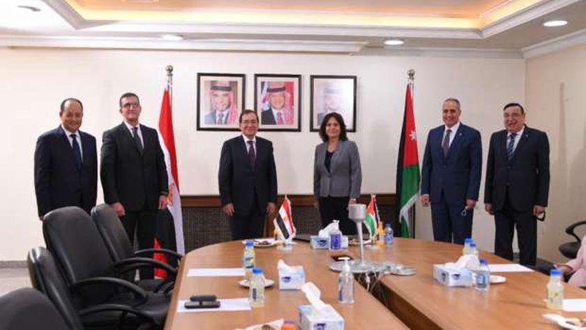 وزير البترول يبحث مع الطاقة الأردنية التعاون بمجالات «البترول والغاز»