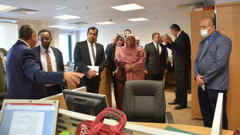 زيارة الوفد السودانى لمصلحة الضرائب