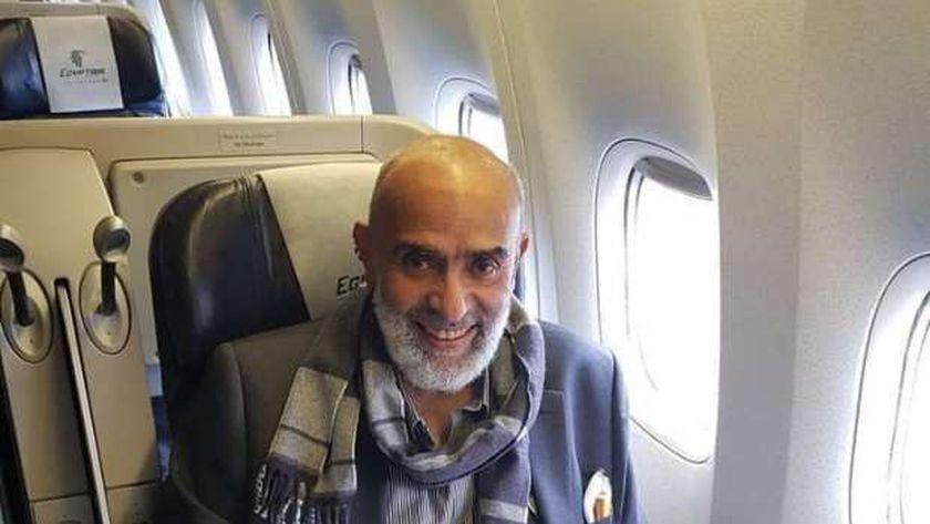 أشرف أبو السعد بمطار القاهرة